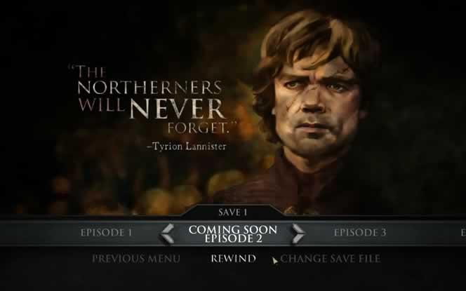 O próximo episódio de Game of Thrones da Telltale