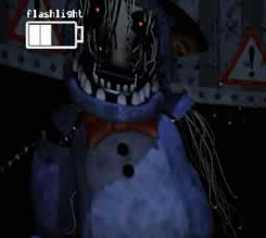 Bonnie na sala de vigilancia de Five Nights at Freddys 2