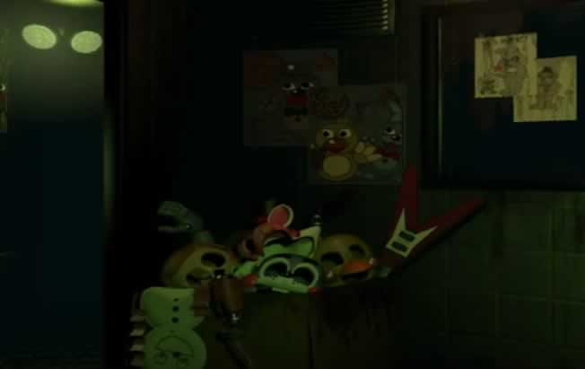 bonecos e desenhos encontrados para o Fazbear's Fright The Horror Attraction