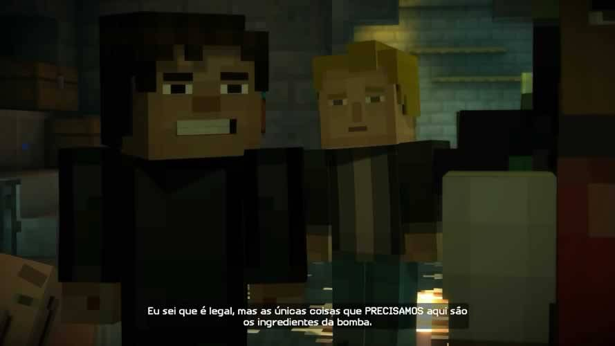 Cenas de Minecraft Story Mode episódio 3