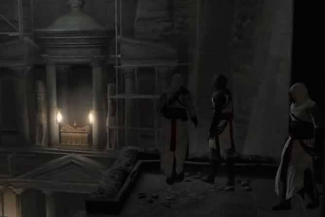 Os Assassinos encontrando a Arca da Aliança