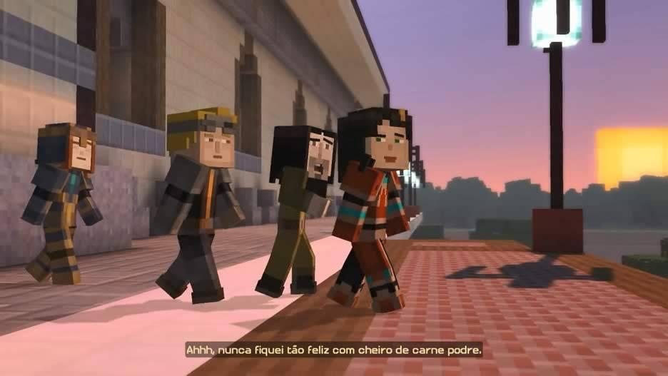 O sol nasce em Minecraft Story Mode