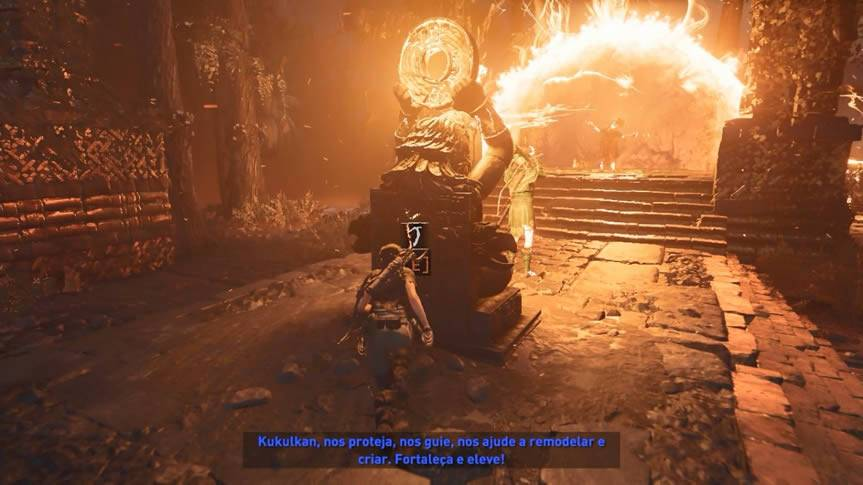 Destruindo mecanismos chefe final Shadow of the Tomb Raider